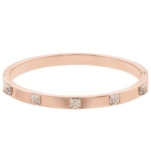 Swarovski rose gold pvd bangle tactic